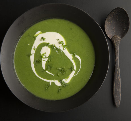 Bright Green Leek Soup
